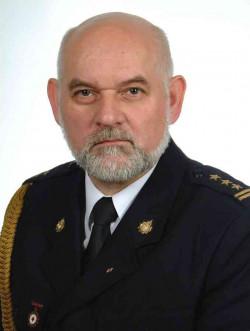 St.bryg. inż. Edmund Kwidziński, Komendant Powiatowy  Państwowej Straży Pożarnej w Kartuzach.