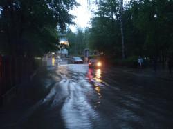 Skutki ulewy w Sopocie.