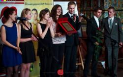 Nagrodzeni przedstawiciele Studenckiego Koła Naukowego Etnologów z Uniwersytetu Gdańskiego.