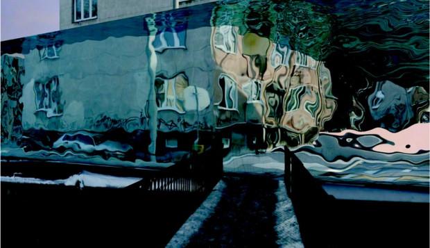 """Wizualizacja pracy Piotra Wyrzykowskiego """"Water Memory"""". Ją również będzie można podziwiać na nietypowej wystawie."""
