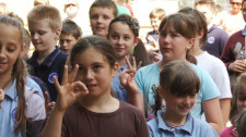 Ładowanie palców śmiechem  - niektóre ćwiczenia wymagały wyobraźni.