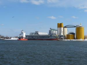 Charakterystyczne, żółte silosy słodowni Malteurop, wznoszące się nad dźwigami w rejonie Polskiego Haka, wrosły już w krajobraz gdańskiego portu.