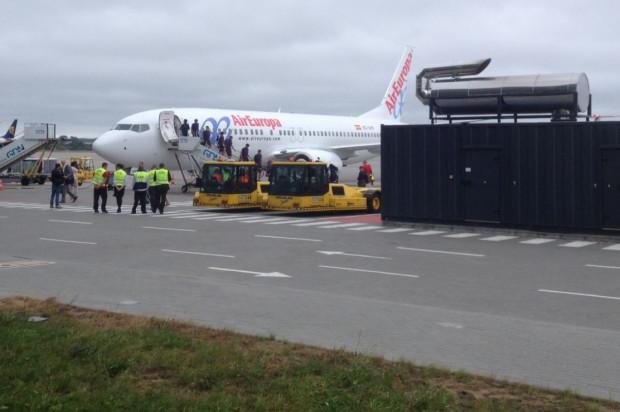Samolot z Barcelony wylądował w Gdańsku.