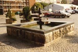 Nieistniejąca dziś fontanna na Targu Węglowym.