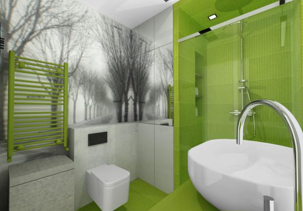 Aranżacje Wnętrz łazienka W Odważnej Kolorystyce Serwis
