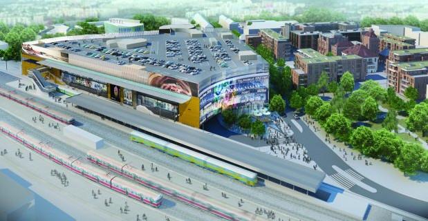 Centrum handlowe będzie przylegać bezpośrednio do przystanku SKM w Gdańsku Wrzeszczu.
