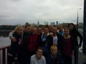 Piłkarki Sztormu podczas wizyty w stolicy.