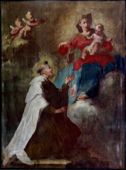 Najświętsza Maryja Panna przekazująca szkaplerz św. Szymonowi Stockowi.