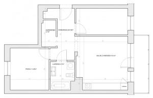 Rozkład pomieszczeń proponowany przez dewelopera.