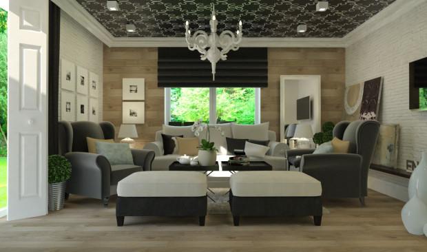 """W tej aranżacji pracowni Studio 23A drewniana podłoga """"wchodzi"""" na ścianę. To jeden z popularniejszych obecnie trendów w projektowaniu wnętrz."""