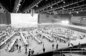 II Krajowy Zjazd NSZZ Solidarność w hali Olivia. Kwiecień 1990 roku.