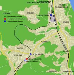 Przystanki planowane do budowy w Gdyni.