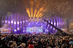 Powitanie Nowego Roku na koncercie w Gdyni.