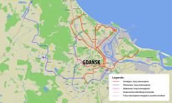 Tak mógłby wyglądać docelowy układ tramwajowy Gdańska, gdyby zrealizować wszystkie brane pod uwagę inwestycje.