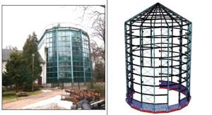 Rozbiórka istniejącej konstrukcji, wzmocnienie fundamentów, podwyższenie rotundy o ok. 5 metrów, nowa, szklano-aluminiowa fasada nadbudowanej części - to założenia planu remontu palmiarni w Parku Oliwskim.