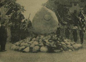 Uroczystość odsłonięcia Skagerrakstein 25 czerwca 1939 r. Zdjęcie zamieszczone w Danziger Neuste Nachrichten...