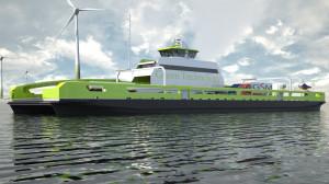 Prom zbudowany w Aluship Technology posiadać będzie zestaw akumulatorów, które ładowane będą na lądzie, a statek całą podróż odbywać będzie napędzany wyłącznie silnikami elektrycznymi.