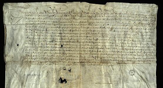 Nominacja Jeana de la Blanque na urząd konsula francuskiego w Gdańsku, podpisana przez króla Francji, Henryka IV Burbona w Paryżu 23 kwietnia 1610 roku.