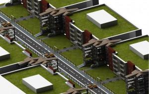 Systemem parkingowym stworzonym w firmie Hydromega można także zabudowywać duże wolne przestrzenie.