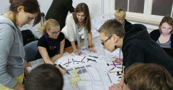 W warsztatach w CSW Łaźnia wzięli udział studenci urbanistyki i architektury m.in. z Trójmiasta, Poznania, Łodzi i Warszawy
