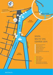 Mapa zlotu Baltic Sail 2014