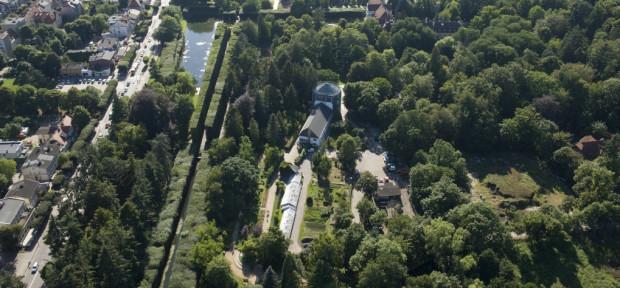 Nowa część Parku Oliwskiego powstanie na terenach uwiecznionych na zdjęciu na prawo i poniżej względem palmiarni.