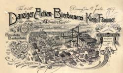 Na początku XX wieku browar we Wrzeszczu był potężnym zakładem.