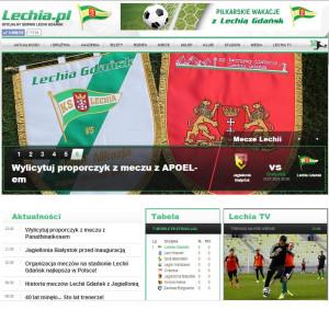 Strona internetowa Lechii Gdańsk została uznana za najlepszą w Polsce.