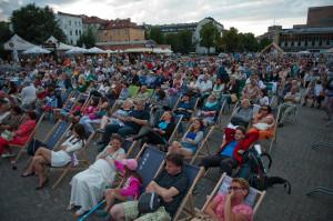 Pomimo niepewności związanej z problemami technicznymi i możliwością odwołania sobotniego pokazu, na spektakl oczekiwało bardzo wiele osób.