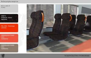 Wnętrze pociągu serii SA133.