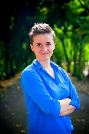 """Katarzyna Dułak - psycholożka, trenerka i edukatorka seksualna, pracuje w Poradni Zdrowia Psychicznego """"Bez Tabu""""."""
