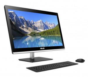 AiO działają cicho, mają dotykowe ekrany, ciekawy design i zajmują mniej miejsca niż komputer PC. To jednak wciąż za mało, by przyćmić wady. Na zdjęciu: ASUS ET22.