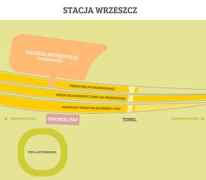 Tak będzie wyglądać układ peronów po zakończeniu przebudowy stacji PKP Gdańsk-Wrzeszcz.