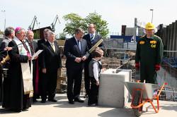 14 maja 2011 roku odbyło się wmurowanie kamienia węgielnego w fundamenty ECS.