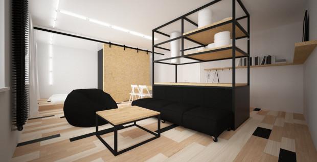 Pierwsze miejsce zajęły architektki z pracowni Dragon Art i Studia 1111. Zaaranżowały mieszkanie dla pracownika Teatru Muzycznego. Jego wyposażenie to w dużej mierze elementy teatralnej scenografii oraz materiały z odzysku.