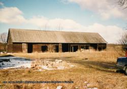 Tak dawniej wyglądała drewniana stodoła.