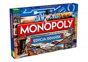 Tak wygląda pudełko gdańskiej wersji gry Monopoly.