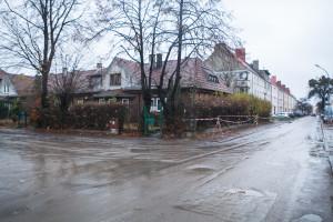 Ulica Kilińskiego w Gdańsku od czwartku będzie placem budowy. Nz. skrzyżowanie z ul. Nad Stawem.