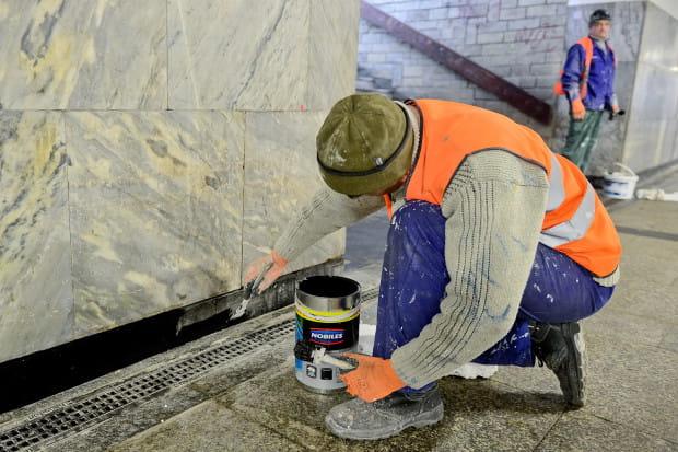 W tunelu PKP w Gdańsku Głównym trwają prace remontowe.