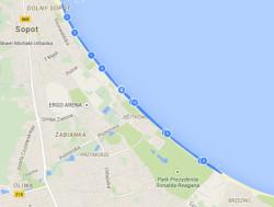 Trasa biegu na 10 km.