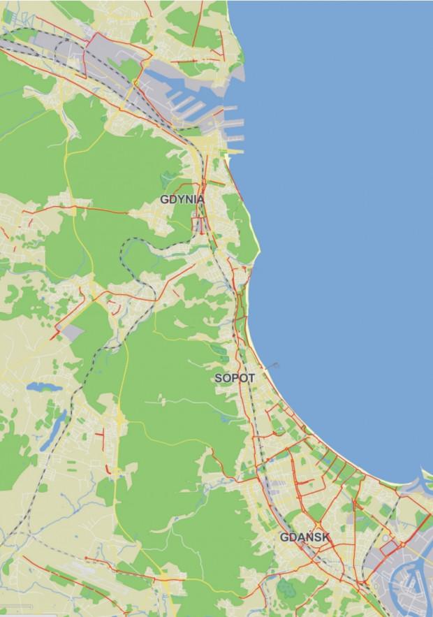 Mapa Drog Rowerowych Portalu Trojmiasto Pl