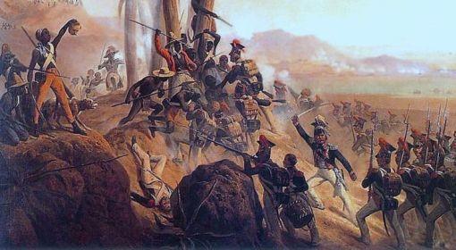 Polscy Legioniści podczas walki na San Domingo (dziś Haiti).