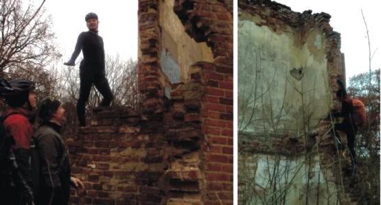 a to ruiny pałacu w Topolnie Wielkim i wielka, górująca nad panami postać Weroniki.