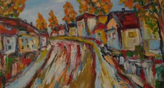Jerzy Stachura najchętniej maluje fragmenty krajobrazu rodzinnego Grabówka