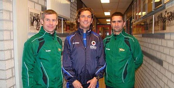 Gdańscy trenerzy ze szkioleniowcem Feyenoordu, Mario Beenem.