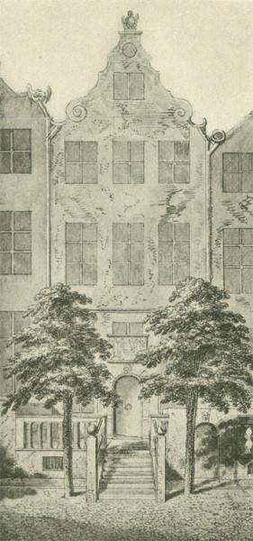 Dom rodzinny Chodowieckiego. Dawniej sądzono, że chodzi o kamienicę przy ul. Św. Ducha, obecnie dopuszcza się możliwość, że stała ona przy I Grobli.