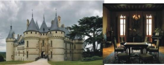 Château de Chaumont sur Loire i jego komnaty