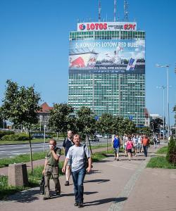 Gdyńska impreza reklamowana była w całym Trójmieście, nawet w centrum Gdańska.