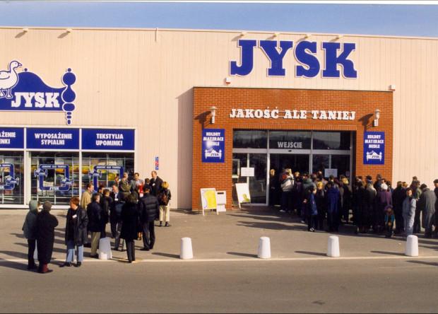 Tak wyglądało otwarcie - 15 lat temu, w Gdańsku - pierwszego polskiego sklepu JYSK.