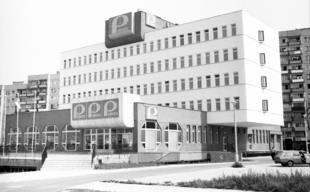 Biurowiec Pewex na ul. Jana Pawła na Zaspie.